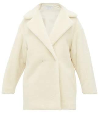Harris Wharf London Teddy Alpaca Blend Coat - Womens - Ivory