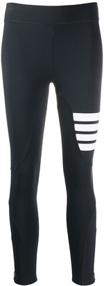 Thom Browne Compression Tights With 4-Bar In Polyamide Stretch Interlock