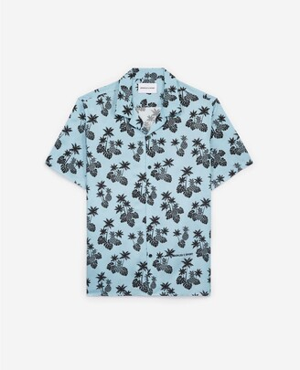 The Kooples Blue printed short-sleeved shirt