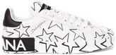 Dolce & Gabbana Portofino Mix Star Leather Sneakers