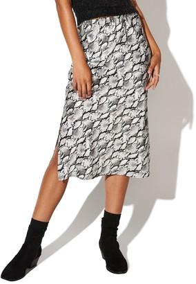 Juniors' Vylette Bias Midi Satin Skirt