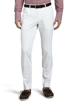 HUGO BOSS Washed Cotton Trousers, White