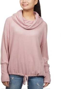 Hippie Rose Juniors' Cozy Funnel-Neck Top