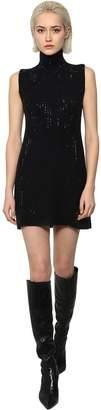 Ermanno Scervino Crystal Embellished Knit Mini Dress
