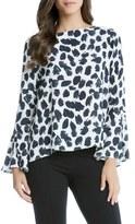 Karen Kane Bell Sleeve Print Blouse