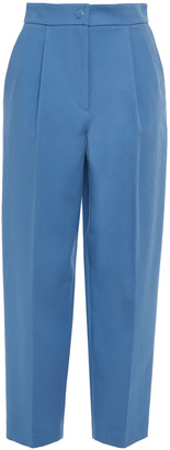 Claudie Pierlot Pamina Pleated Stretch-cotton Tapered Pants