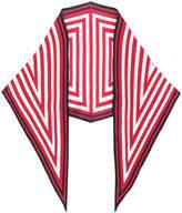 Haider Ackermann geo patterned scarf