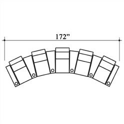 Bass Penthouse Leather Home Theater Row Seating (Row of 5