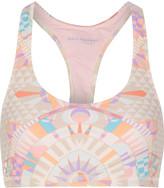 Mara Hoffman Printed stretch-jersey and mesh sports bra