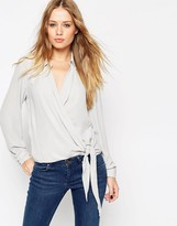 Asos Ultimate Wrap Front Blouse