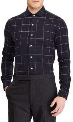 Ralph Lauren Purple Label Windowpane Flannel Button-Down Shirt