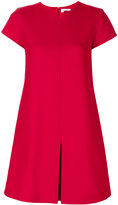 Courreges v-neck detail dress