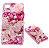 KAKA(TM) 3D Handmade Rhinestone Bling Crystal For iPhone 6 Plus/iPhone 6s Plus 5.5 Screen Different Color Pattern