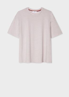 Paul Smith Women's Pink Viscose-Blend Glitter Short-Sleeve Top