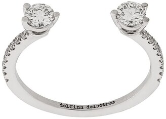 Delfina Delettrez 18kt white gold Dots Diamond Pave ring