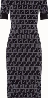 Fendi FF motif fabric dress