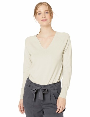 Daily Ritual Amazon Brand Women's Fine Gauge Stretch V-Neck Pullover Sweater