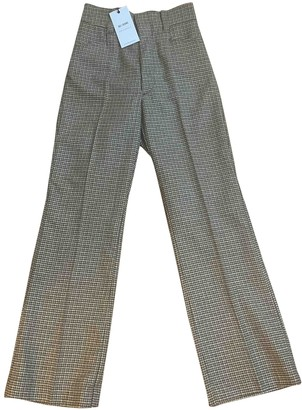 RE/DONE Brown Wool Trousers