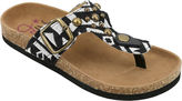 OMGIRL OMGirl Kimber Multi-Studded Aztec-Print Cork Girls Sandals - Little Kids