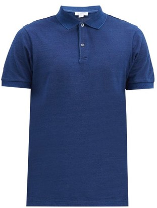 Sunspel Riviera Cotton-pique Polo Shirt - Blue
