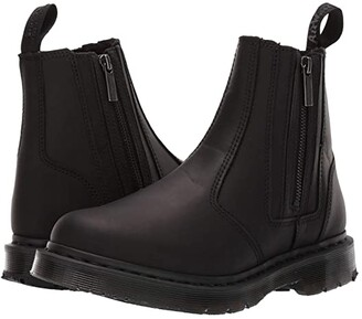 Dr. Martens 2976 Alyson DM'S Wintergrip (Black Snowplow Waterproof/Black Waxy Suede Waterproof) Women's Boots