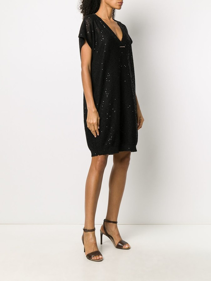 Thumbnail for your product : Brunello Cucinelli sequin T-shirt dress