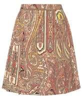 Etro Printed wool skirt
