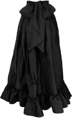 Az Factory Switchwear Duchesse signature bow long skirt