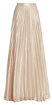 Max Mara Women's Pacato Metallic Pleated Silk-Blend Evening Skirt