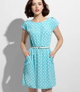 Fred Flare Blue Me Away Polka Dot Dress