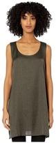 Eileen Fisher Silk Organic Cotton Crossroads Scoop Neck Tunic (Woodland) Women's Clothing
