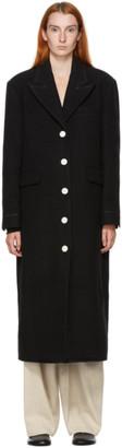 Kim Matin Black Wool Block Coat
