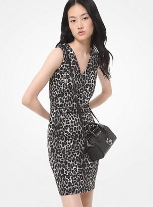 Michael Kors Leopard-Print Scuba Dress