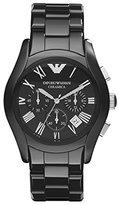 Emporio Armani Men's AR1400 Ceramica Analog Display Analog Quartz Black Watch