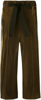 Fendi metallic cropped trousers - women - Silk/Polyester/Viscose - 38