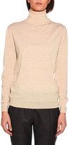 Stella McCartney Lightweight Knit Turtleneck Sweater, Sand
