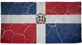 Old Glory Distressed Dominican Republic Flag All Over Beach Towel Multi Standard One Size