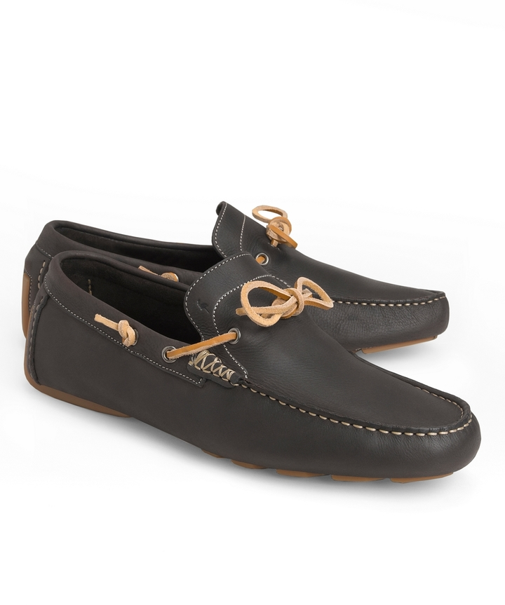 Harry's of London Henley Tie Leather Driving Mocs