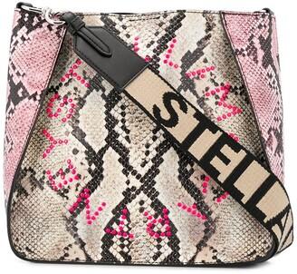 Stella McCartney Stella Logo snake-effect shoulder bag
