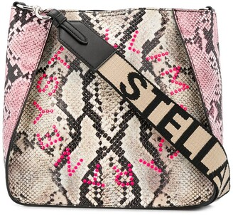 Stella McCartney Stella Logo snake-effect shoulder bag