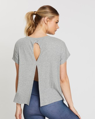 Beyond Yoga Keep In Line Split Back Ribbed Tee