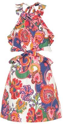 Zimmermann Lovestruck printed linen minidress