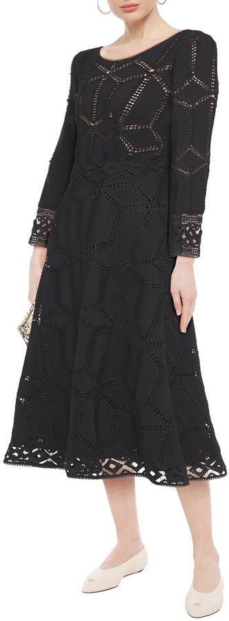 Thumbnail for your product : BA&SH Rosewelle Macrame Lace-trimmed Crocheted Midi Dress