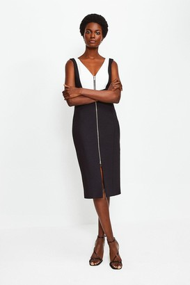 Karen Millen Panel Block Pencil Dress