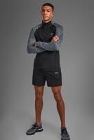 boohoo Mens Black MAN Active Funnel Neck Short Set, Black