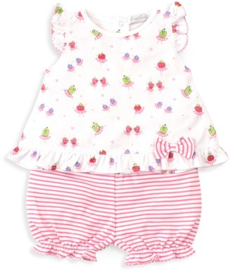 Kissy Kissy Baby Girl's Berry Ballet Tee & Bloomer Set