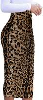 VfEmage Womens Elegant Ruched Frill Ruffle High Waist Pencil Mid-calf Skirt 6806 GRY M