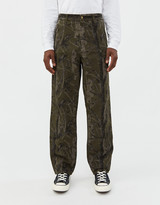 Carhartt WIP Men's Double Knee Canvas Pant in Green Camo Tree, Size 28 | 100% Cotton