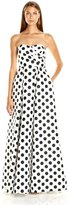Adrianna Papell Polka Dot Semi-Sweetheart A-Line Dress 191918380