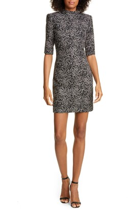 Alice + Olivia Inka Mock Neck Minidress